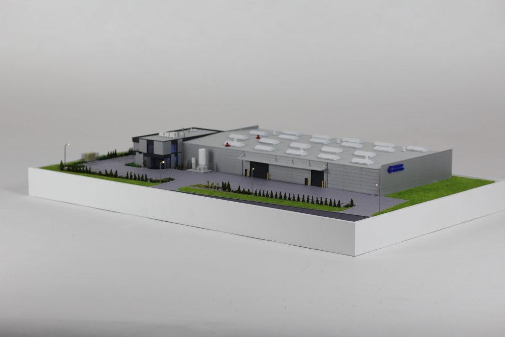Makieta hali produkcyjnej